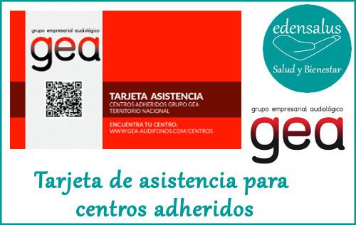 Tarjeta de asistencia para centros adheridos